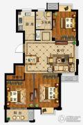 弘业・城市花园3室2厅1卫107平方米户型图