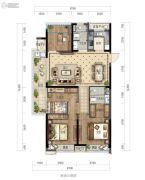 绿城华景川・之江明月4室2厅2卫128平方米户型图