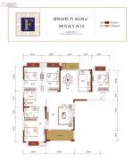 金盘・世界城4室2厅2卫162平方米户型图