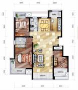 豪邦缇香公馆3室2厅2卫0平方米户型图