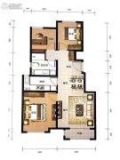 东岸名郡3室2厅1卫95平方米户型图