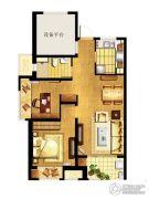 万科MixTown3室2厅1卫86平方米户型图