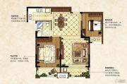 中南锦城2室2厅1卫87平方米户型图