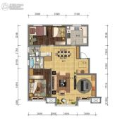 万科・招商 城市之光3室2厅2卫0平方米户型图