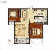 佳合如苑2室2厅1卫101平方米户型图