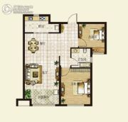 华明星海湾2室2厅1卫82平方米户型图