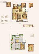 中南・樾府6室2厅3卫171平方米户型图
