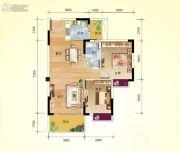 龙翔花园2室2厅1卫80平方米户型图