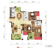世茂茂悦府3室2厅2卫89平方米户型图