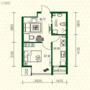 丽江苑1室1厅1卫45平方米户型图