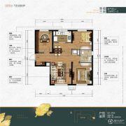 万科公园大道3室2厅1卫0平方米户型图