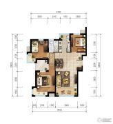 爱晚・大爱城3室1厅1卫0平方米户型图
