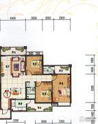 府前雅居苑3室2厅2卫132平方米户型图