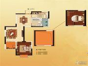 世纪城金域华府2室2厅1卫69平方米户型图