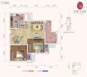 保利金香槟2室2厅1卫60平方米户型图