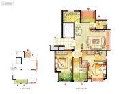 宏泰风花树4室2厅2卫113平方米户型图