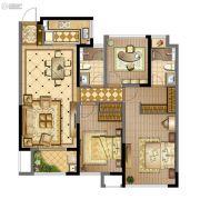 蓝光天悦城3室2厅2卫107平方米户型图