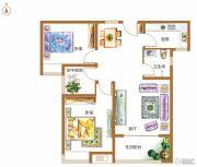 锦江城市花园2室2厅2卫95平方米户型图