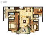 红豆香江豪庭3室2厅2卫125平方米户型图
