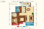新城吾悦广场3室2厅2卫96平方米户型图