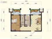 鸿大中域1室2厅1卫65平方米户型图