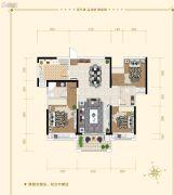 湘潭・奥园冠军城3室2厅2卫114平方米户型图