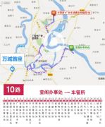 万城首座交通图
