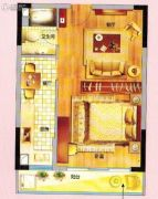 紫晶国际广场1室1厅1卫54平方米户型图