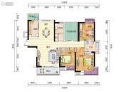 天健城3室2厅2卫134平方米户型图