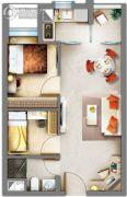祈福缤纷汇2室1厅1卫50平方米户型图
