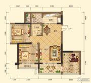 第五街3室2厅1卫91平方米户型图