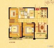 中南世纪花城3室2厅1卫102平方米户型图