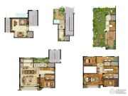 保利礼墅3室2厅3卫255平方米户型图