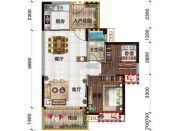 金穗・悦景台2室2厅1卫81平方米户型图