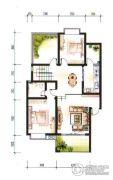 官厅湖1号别墅2室2厅2卫87平方米户型图