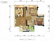 时代锦绣2室2厅1卫59平方米户型图