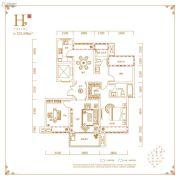 丽丰铂羽公馆3室2厅2卫121平方米户型图