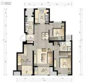 万科劝学里3室2厅2卫0平方米户型图