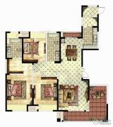 华仁凤凰城3室2厅2卫176平方米户型图