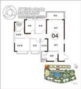 恒大・山湖郡4室2厅2卫132平方米户型图