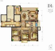 新希望・白麓城3室2厅2卫120平方米户型图