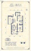 阳光揽胜3室2厅1卫121平方米户型图