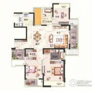 中环国际公寓三期2室2厅1卫94平方米户型图