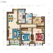 红星・紫御半山3室2厅1卫101平方米户型图