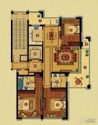 百合花园3室2厅2卫167平方米户型图