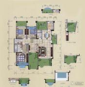 龙湾庄园3室3厅3卫168平方米户型图