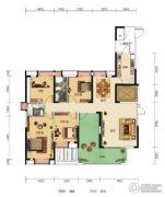 中核・半岛城邦4室2厅2卫165平方米户型图