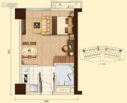翠湖大厦1室1厅1卫0平方米户型图