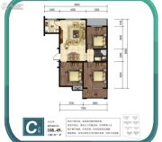 金山九泷湾3室2厅1卫109平方米户型图
