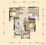 均瑶・御景天地3室2厅1卫87平方米户型图